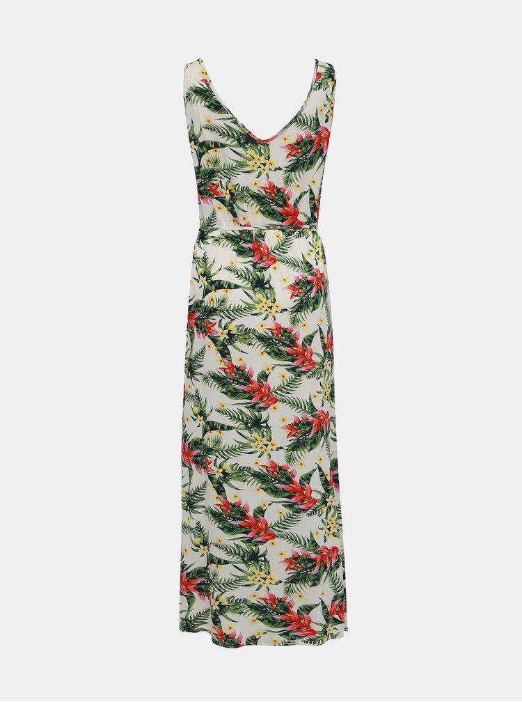 Zeleno-krémové květované šaty VERO MODA Lizzy