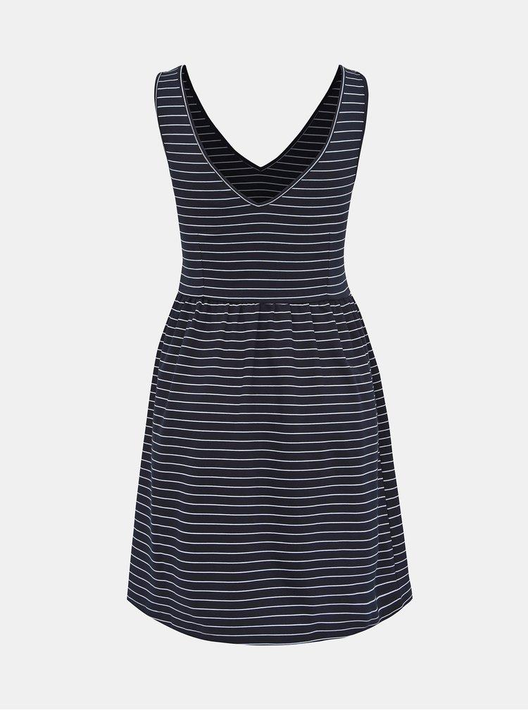 Tmavomodré pruhované šaty ONLY Joy