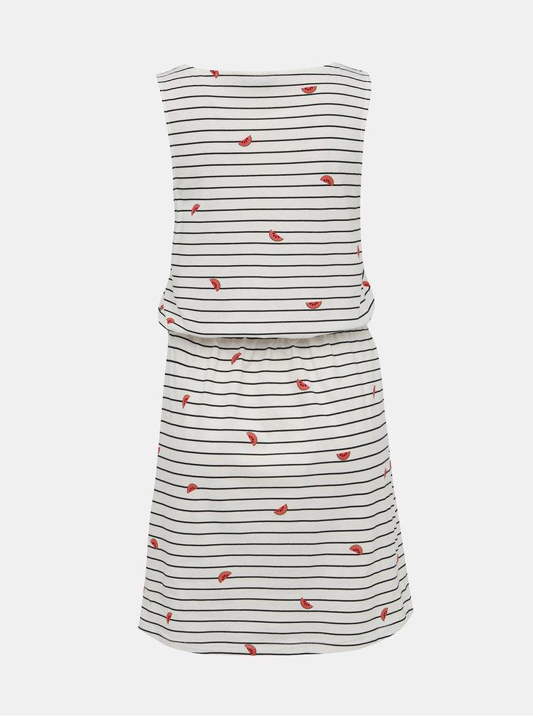 Bílé pruhované šaty ONLY May