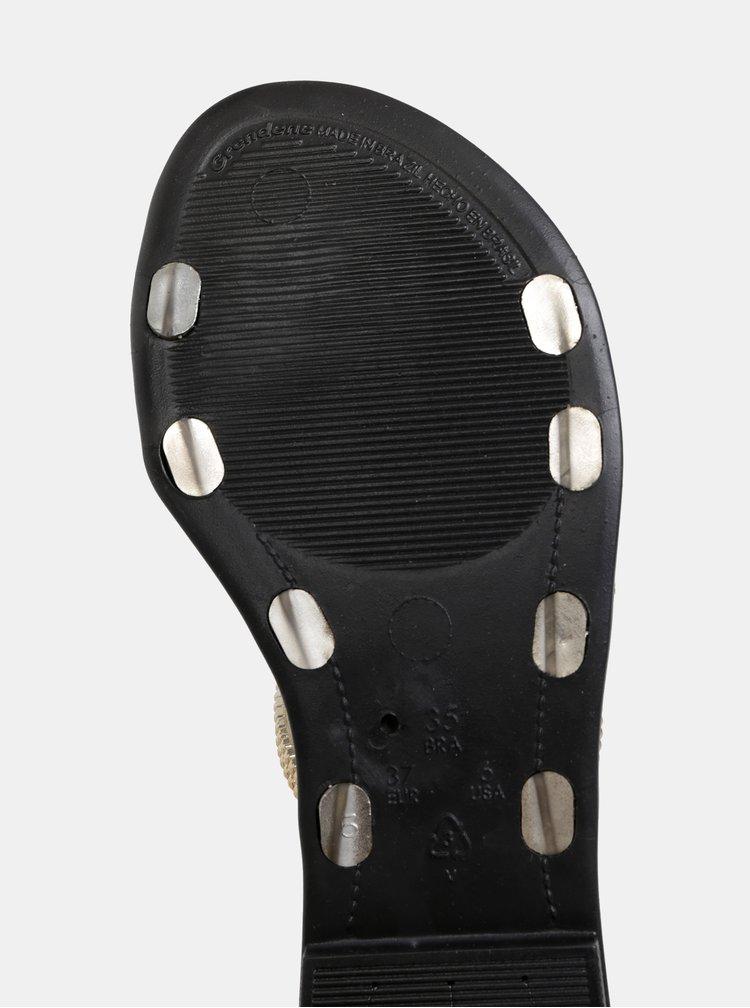 Šľapky v čierno-zlatej farbe Grendha Preciosiade