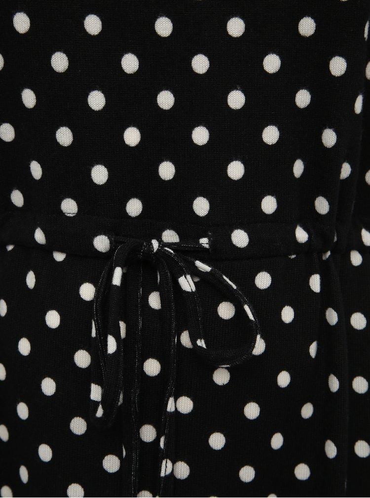 Čierne bodkované svetrové šaty ONLY CARMAKOMA Alba
