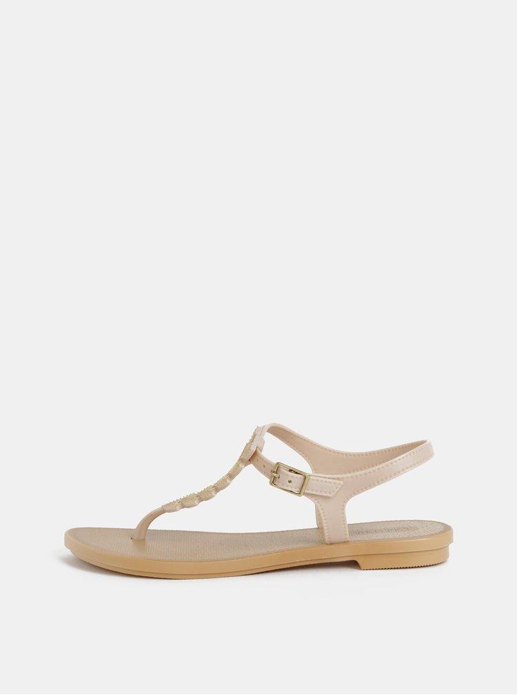 Krémové sandále Grendha Glamorous