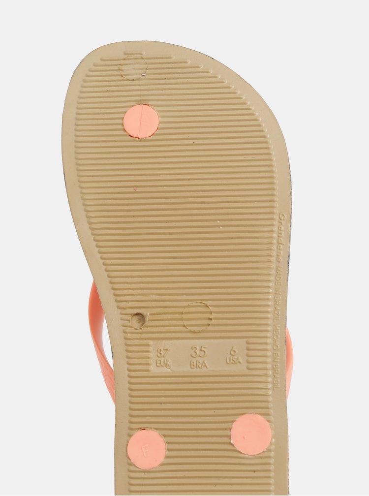 Hnedo-oranžové žabky Ipanema Summer