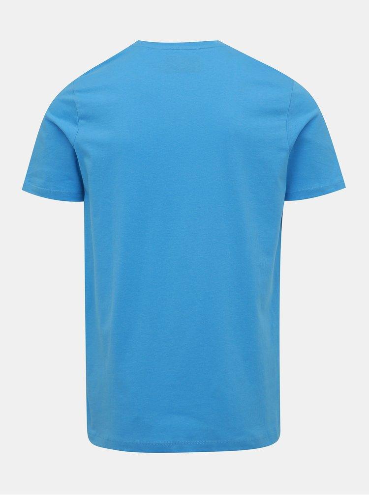 Modré tričko s potiskem Jack & Jones Flake