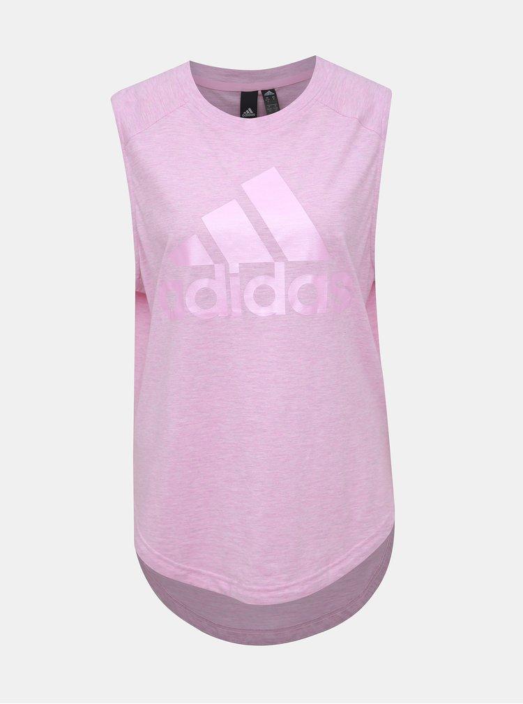 Rúžové dámske tílko adidas Performance