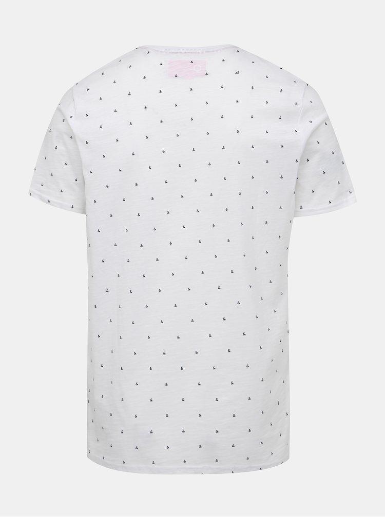 Bílé vzorované tričko Jack & Jones And