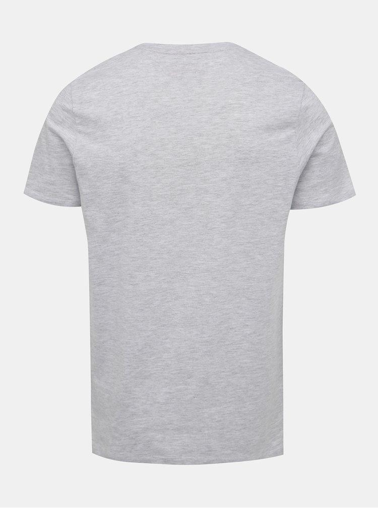 Svetlošedé tričko s potlačou Jack & Jones Flake
