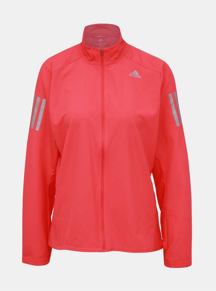 Růžová dámská voděodpudivá bunda adidas Performance