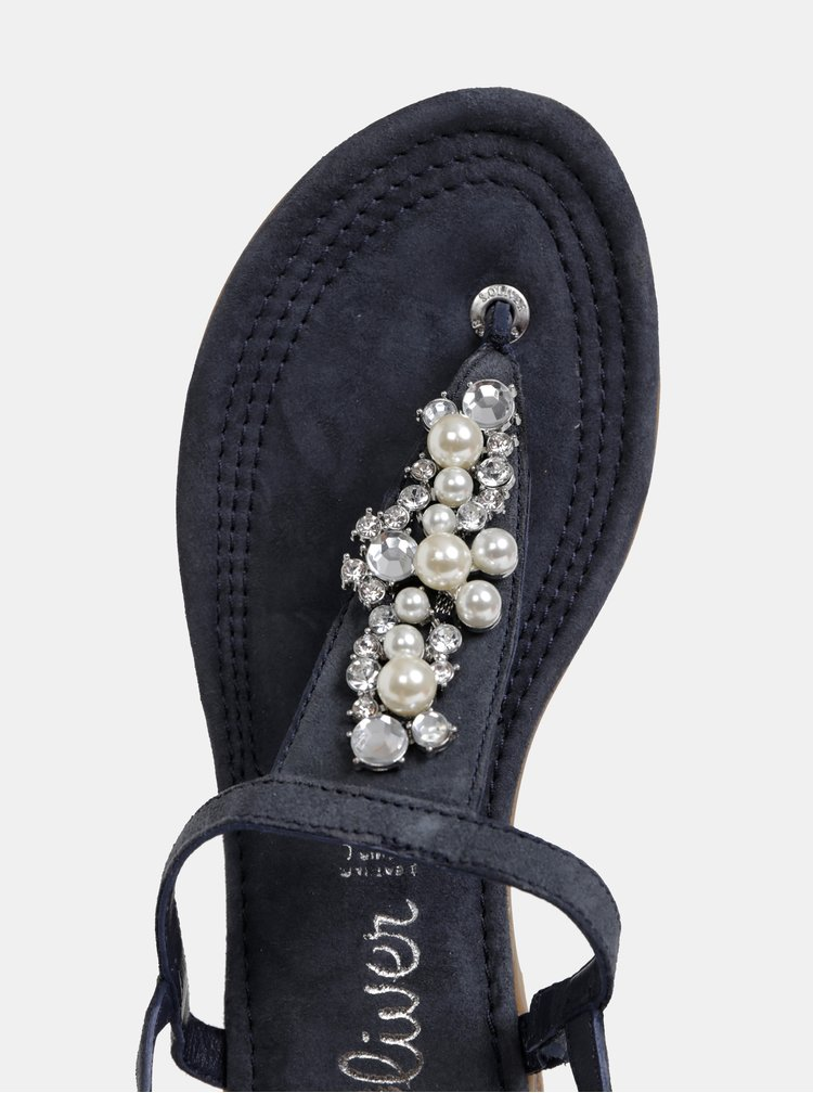 Tmavě šedé semišové sandály s.Oliver