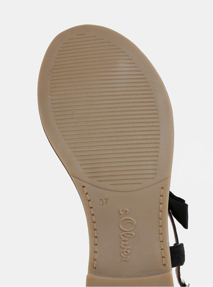 Čierne dámske semišové sandále s.Oliver