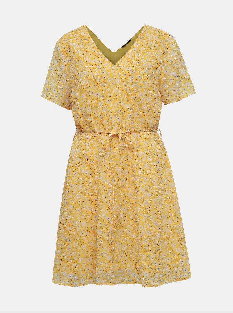 Žlté kvetované šaty ONLY Tone
