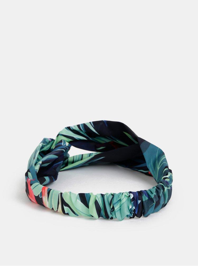 Zeleno-modrá dámská vzorovaná čelenka Haily´s Palmy