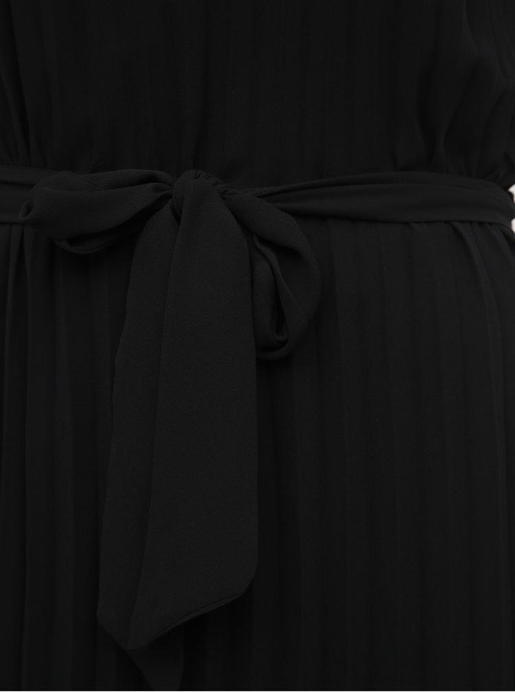 Černé plisované maxišaty na ramínka ONLY Analina