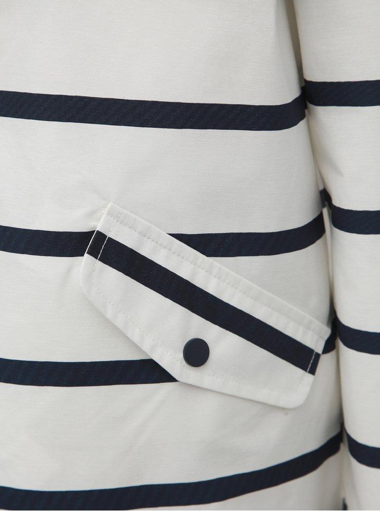 Modro-biela vodeodpudivá pruhovaná bunda M&Co