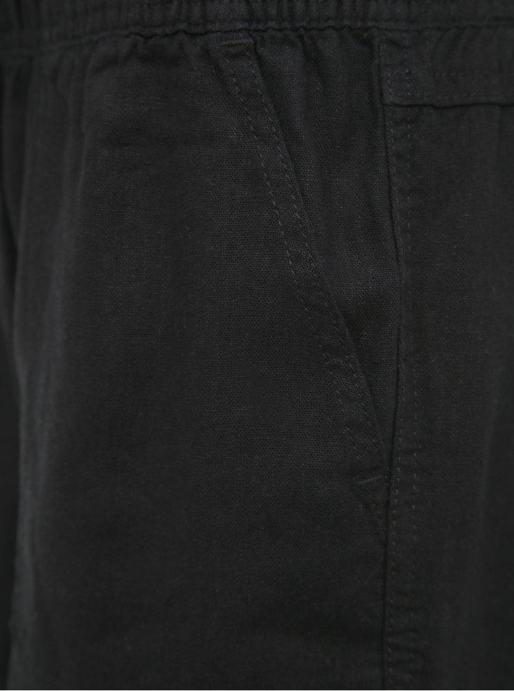 Černé dámské lněné kraťasy M&Co Petite