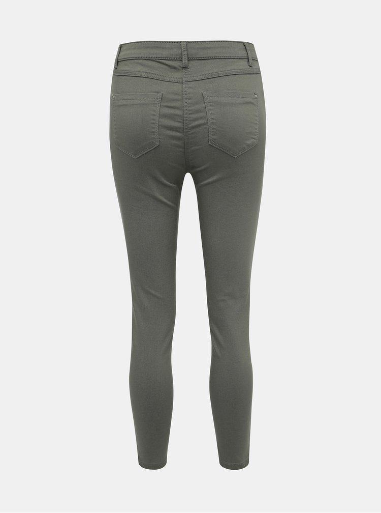 Khaki zkrácené džíny M&Co Petite