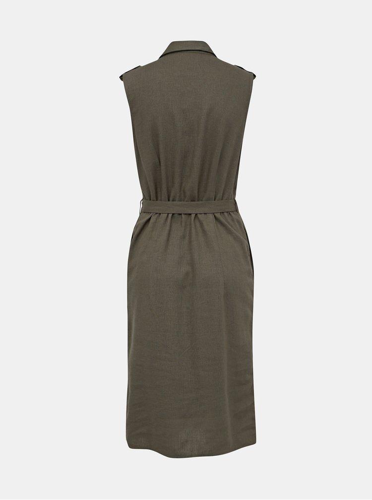 Kaki košiľové šaty M&Co