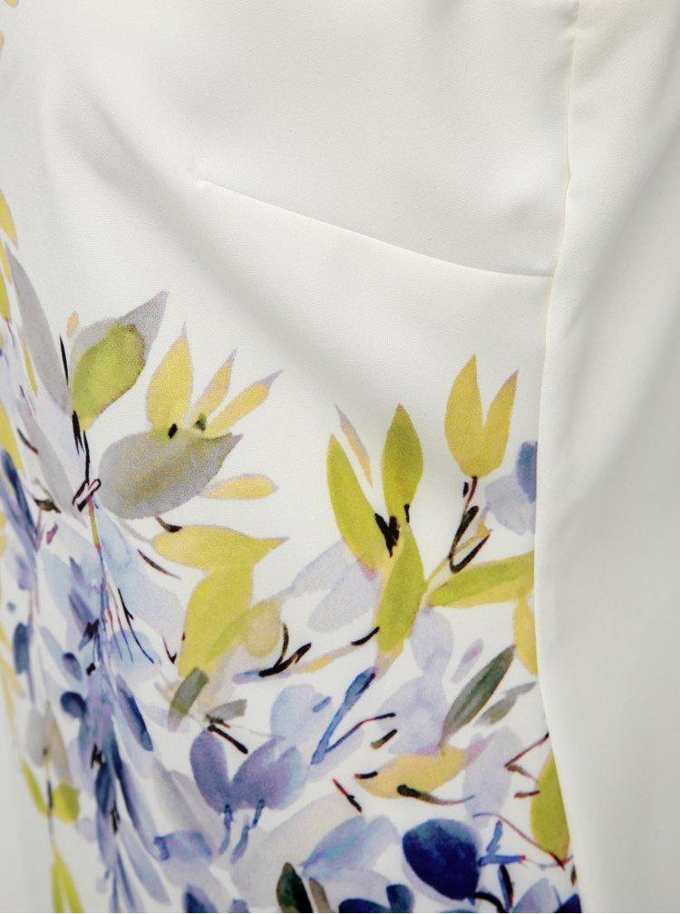 Krémové dámské květované pouzdrové šaty M&Co