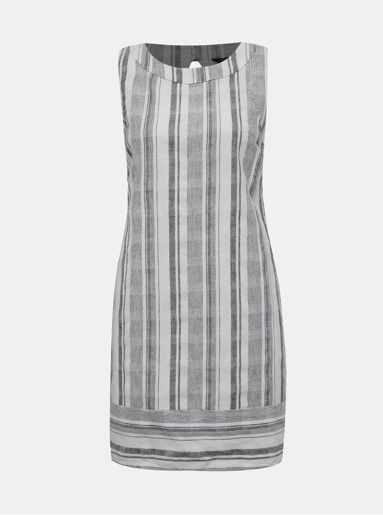 Bílo-šedé pruhované šaty M&Co Petite
