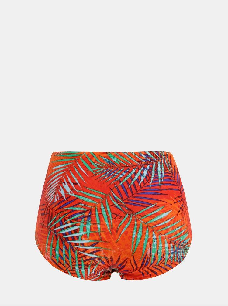 Oranžový dámský vzorovaný spodní díl plavek M&Co