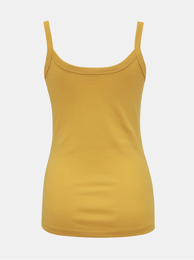 Žluté dámské basic tílko M&Co
