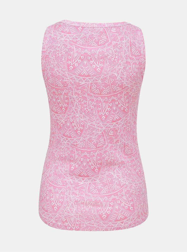 Růžové dámské vzorované tílko M&Co