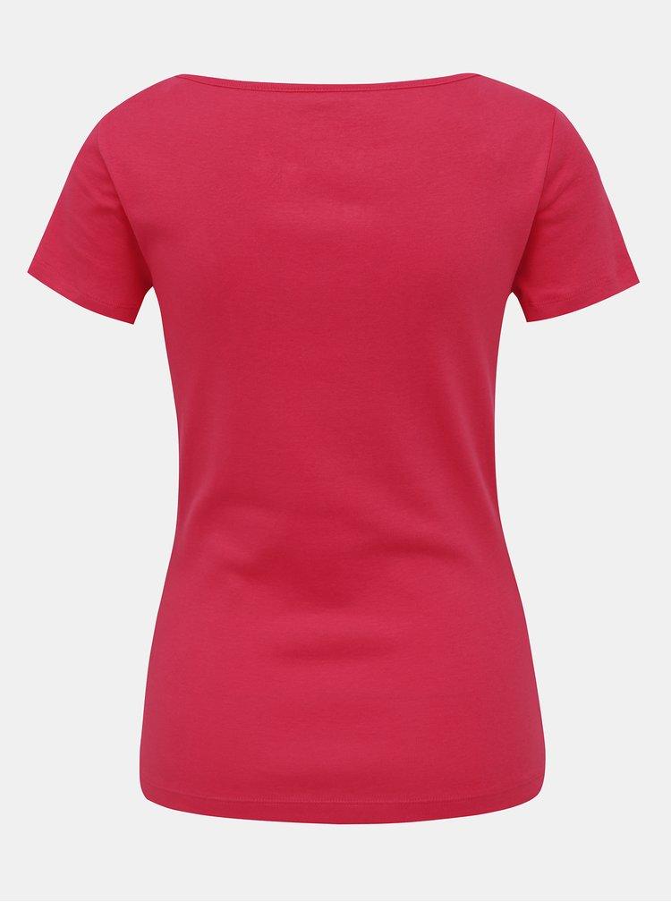 Červené dámské tričko M&Co