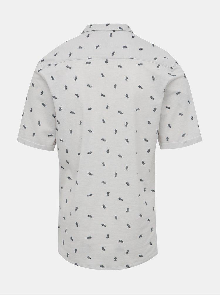 Bílá vzorovaná slim fit košile ONLY & SONS Cuton