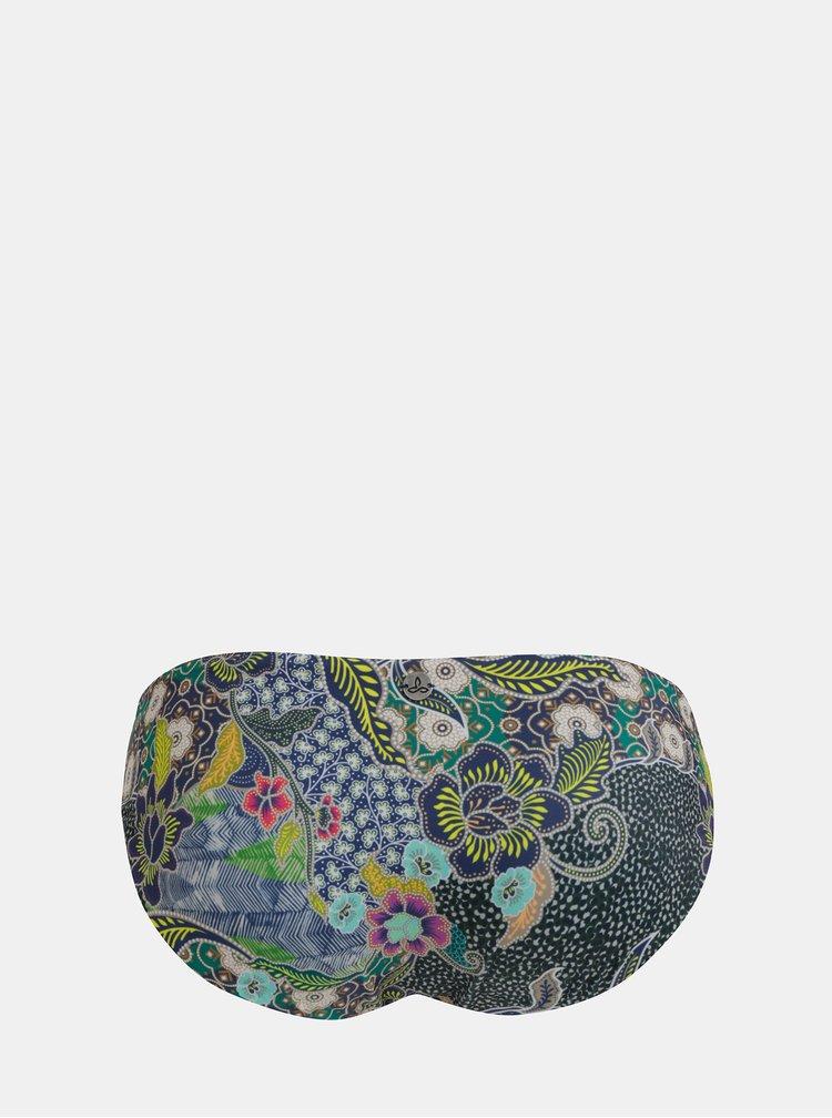Modrý květovaný oboustranný spodní díl plavek prAna Breya