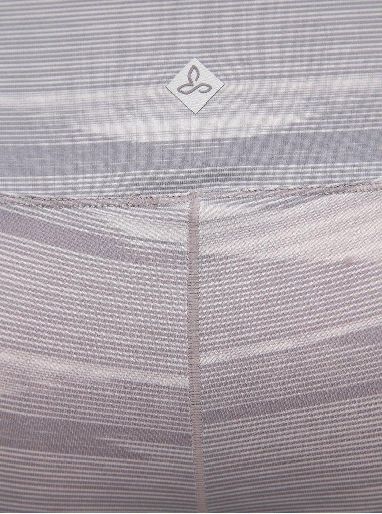Svetlošedé vzorované 3/4 legíny prAna Pillar