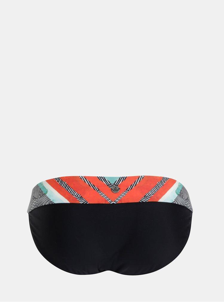 Červeno-čierny vzorovaný spodný diel plaviek prAna Xochil