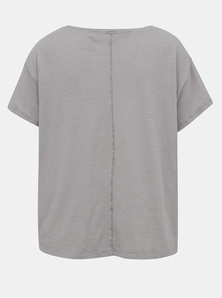 Šedé sportovní tričko s potiskem prAna Chez
