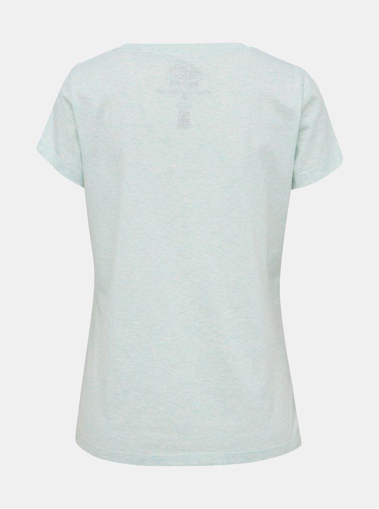 Svetlomodré žíhané tričko s potlačou prAna Graphic tee