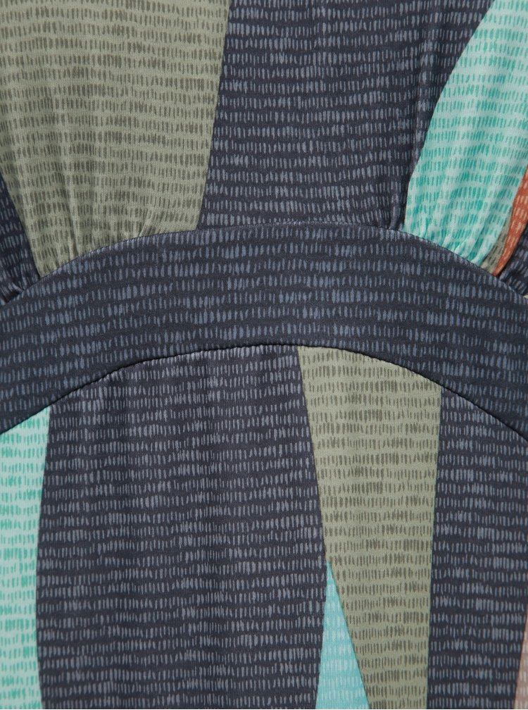 Šedo-modré vzorované maxišaty prAna Calexico