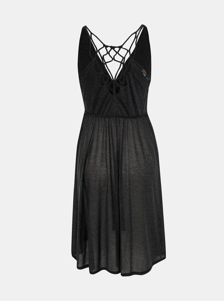 Tmavošedé plážové šaty s priestrihmi prAna Delori