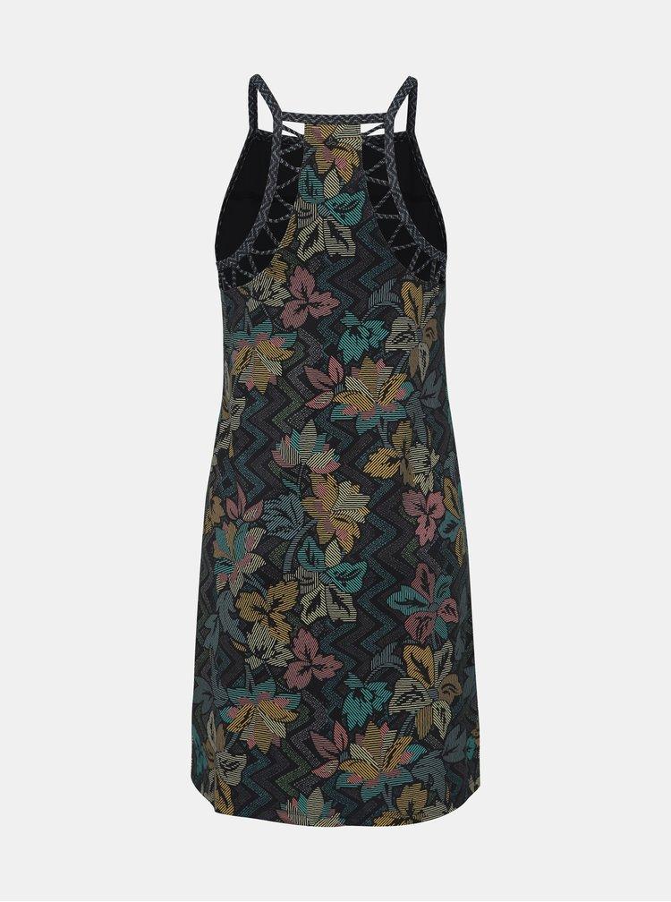 Čierne kvetované šaty s priestrihmi prAna Ardor