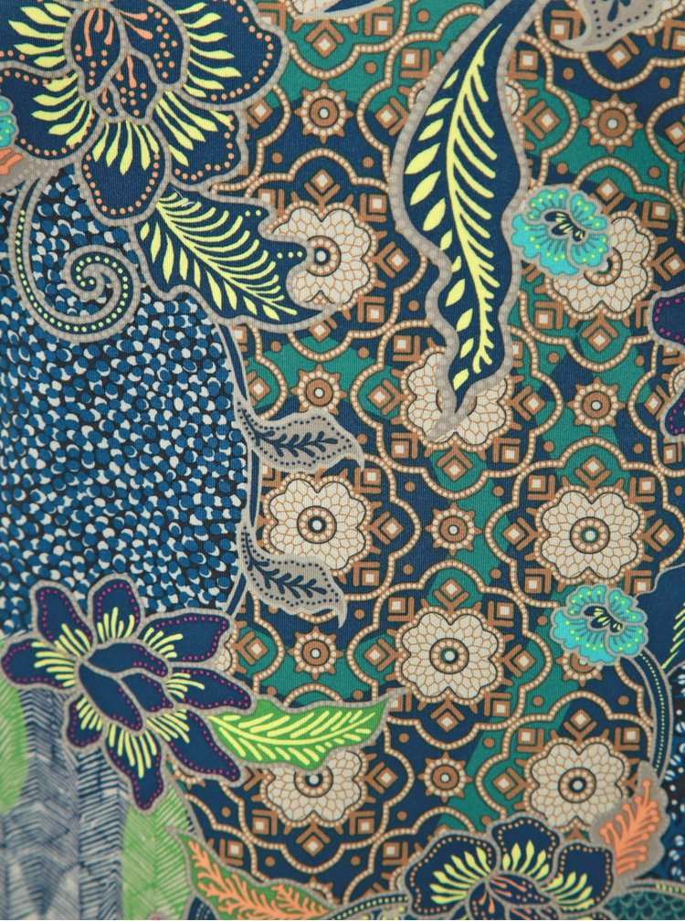 Tmavě modrý vzorovaný sportovní top prAna Emsley