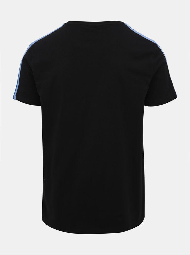 Černé tričko s potiskem Lindbergh
