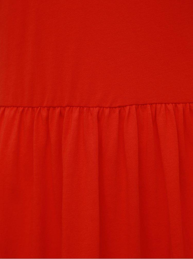 Červené maxišaty VERO MODA Rebecca