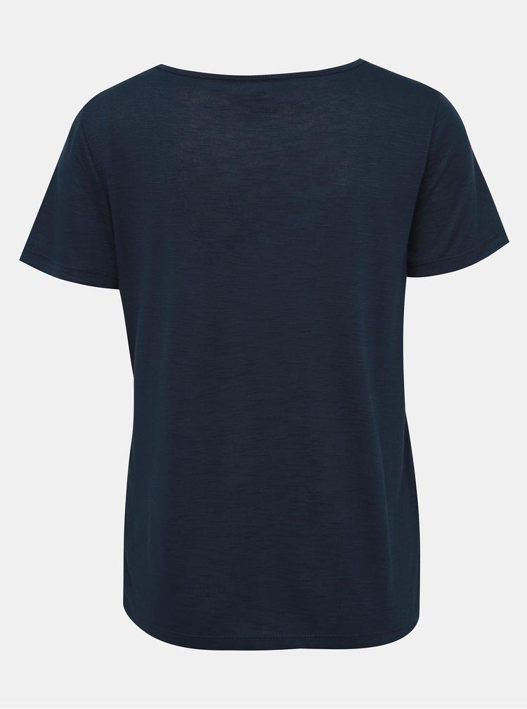 Tmavě modré basic tričko VILA Noel