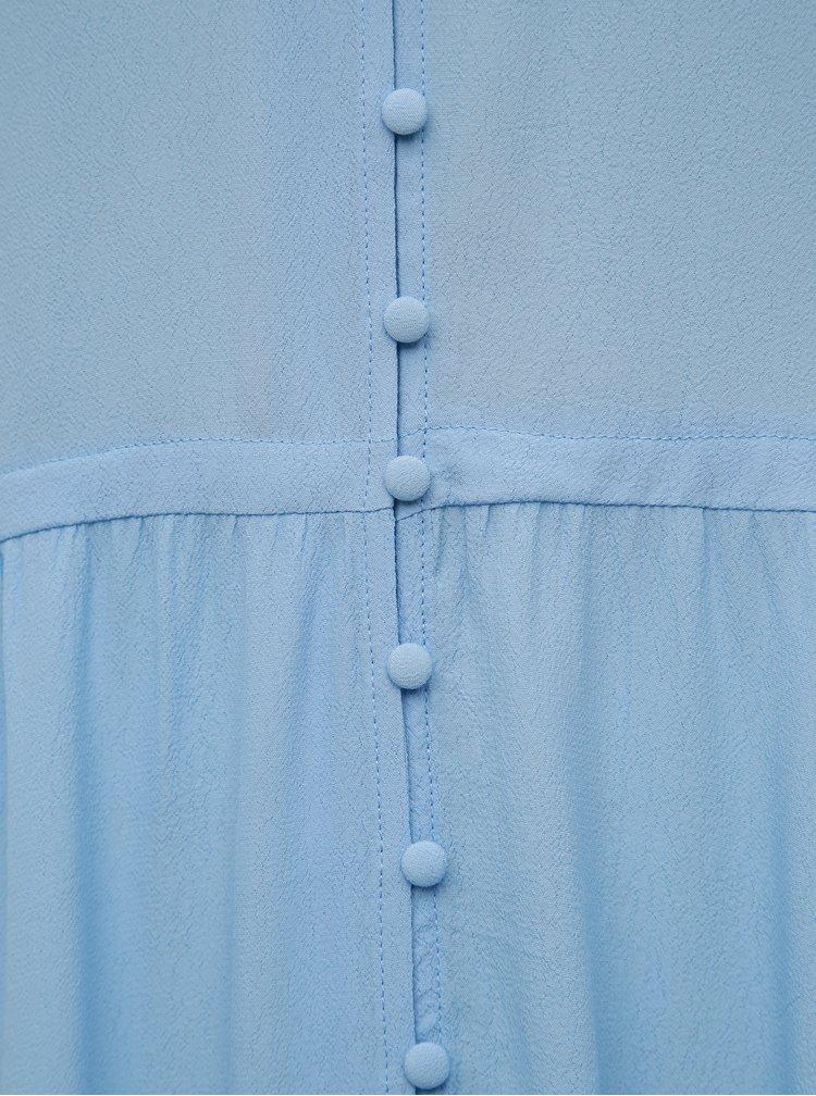 Světle modré maxišaty VILA Dalinga