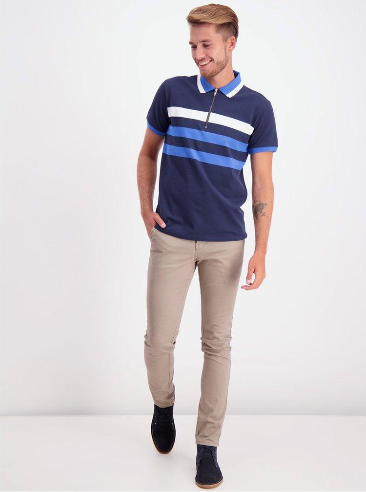 Tricouri polo pentru barbati Lindbergh - albastru inchis