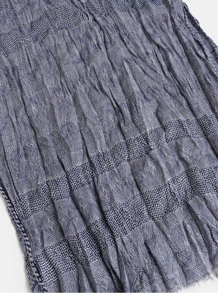 Tmavomodrá vzorovaná šatka Jack & Jones Lukas