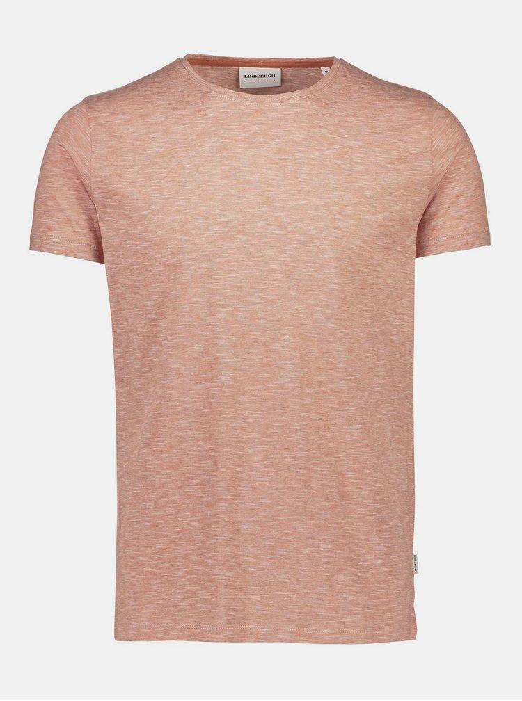 Oranžové žíhané basic tričko Lindbergh