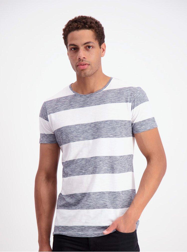 Šedo-bílé pruhované tričko Lindbergh