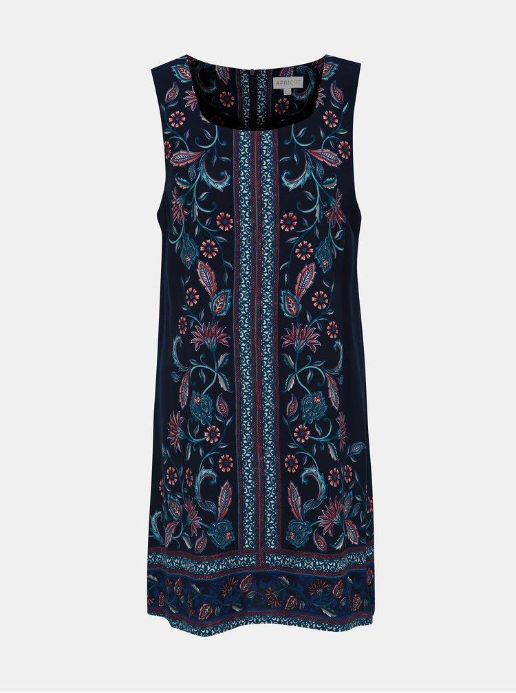 Tmavomodré kvetované šaty Apricot