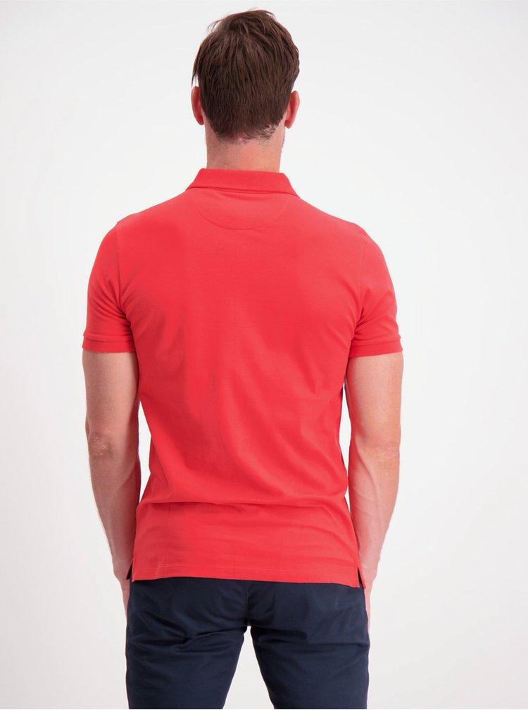 Červené basic polo tričko Lindbergh