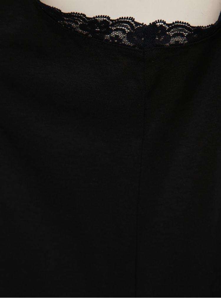 Čierne tielko s krajkou VERO MODA Alivia