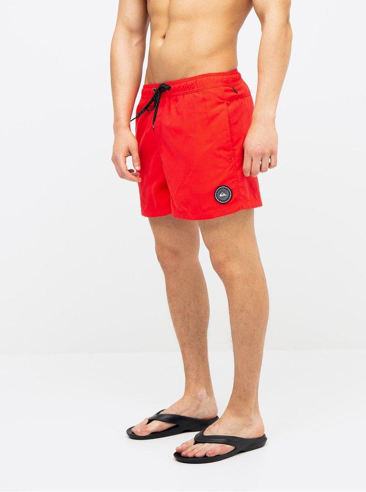 Červené plavky Quiksilver