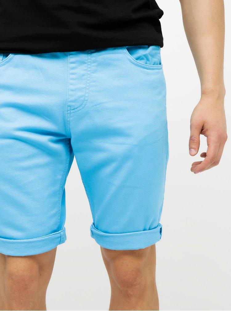 Pantaloni scurti barbatesti albastri din denim Tom Tailor